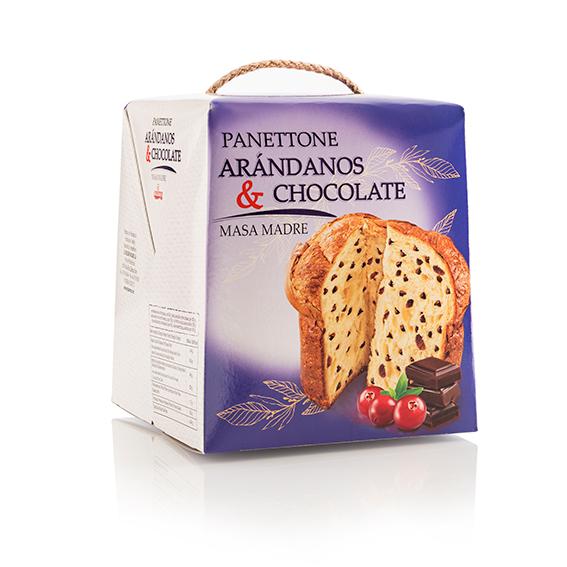 Panettone chocolate arándanos 500 gr.